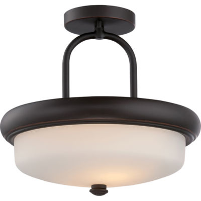 Filament Design 2-Light Mahogany Bronze Semi-FlushMount