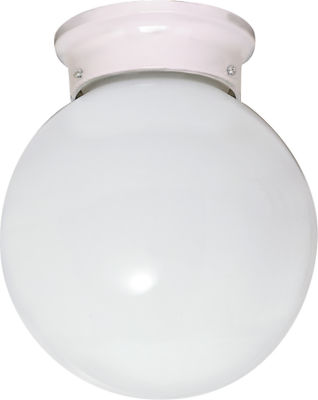 Filament Design 1-Light White Outdoor Flush Mount