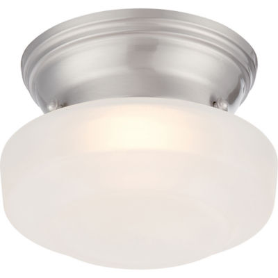 Filament Design 1-Light Brushed Nickel Flush Mount