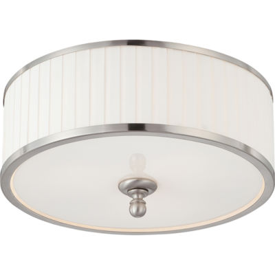 Filament Design 3-Light Brushed Nickel Flush Mount