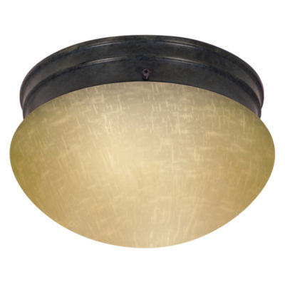 Filament Design 2-Light Mahogany Bronze Flush Mount