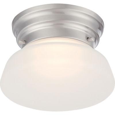 Filament Design 1-Light Brushed Nickel Flush Mount