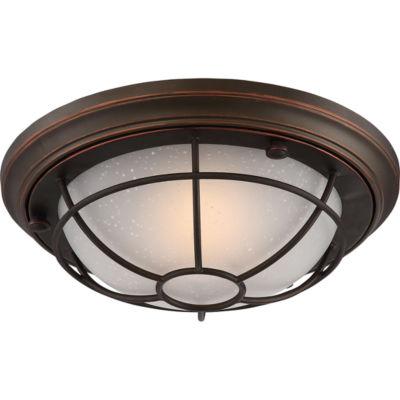 Filament Design 1-Light Mahogany Bronze Outdoor Flush Mount