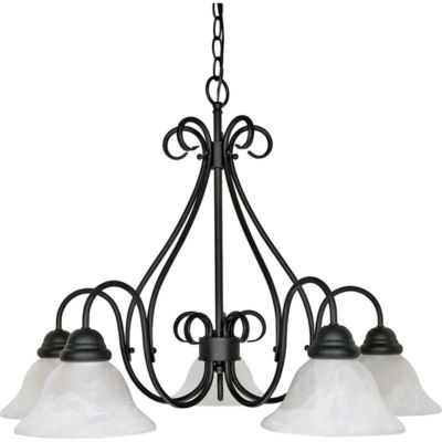 Filament Design 5-Light Textured Black Chandelier