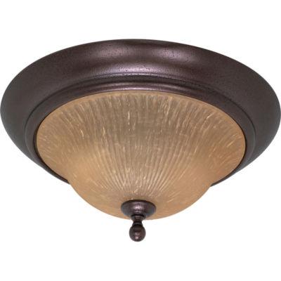 Filament Design 2-Light Copper Bronze Flush Mount