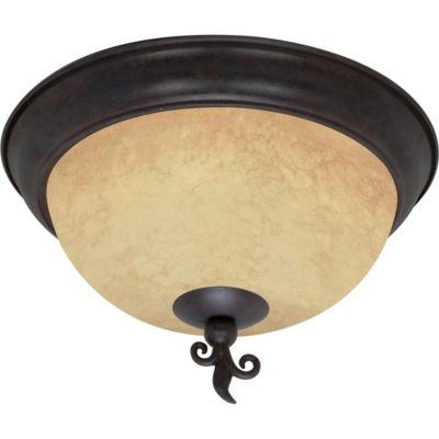 Filament Design 3-Light Old Bronze Flush Mount