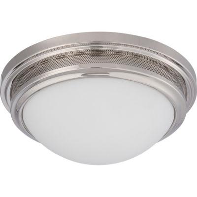 Filament Design 1-Light Polished Nickel Flush Mount