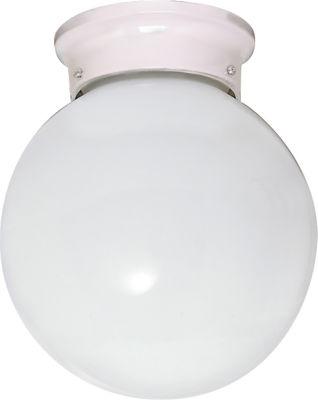 Filament Design 1-Light White Glass Flush Mount