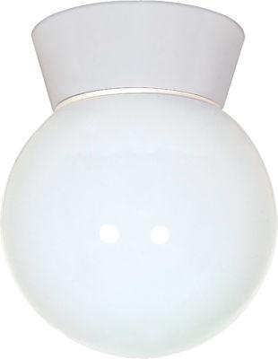 Filament Design 1-Light White Outdoor Flush Mount