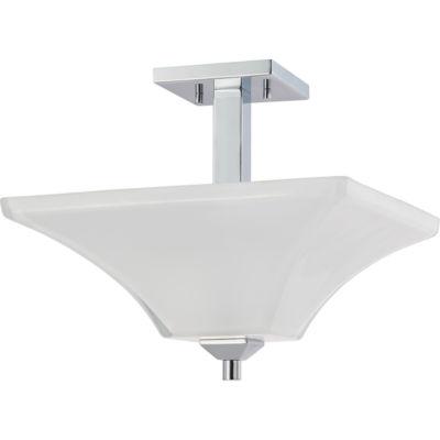 Filament Design 2-Light Polished Chrome Semi-Flush Mount