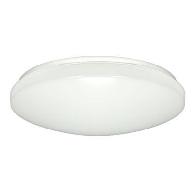 "Filament Design 1-Light 14"" White Led Flush Mount"""