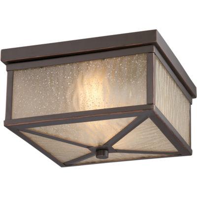 Filament Design 2-Light Mahogany Bronze Outdoor Flush Mount
