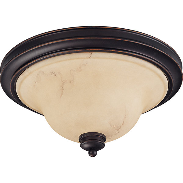Filament Design 2-Light Copper Espresso Flush Mount