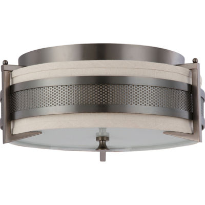 Filament Design 3-Light Hazel Bronze Flush Mount