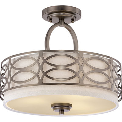 Filament Design 3-Light Polished Nickel Semi-FlushMount