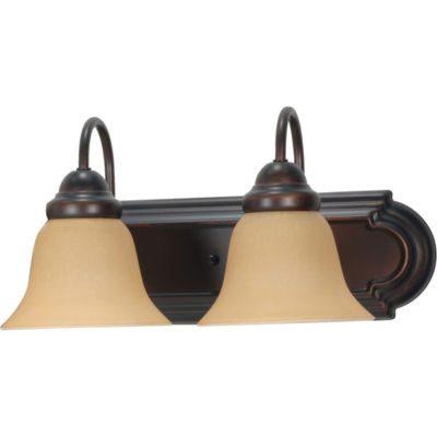 Filament Design 2-Light Mahogany Bronze Bath Vanity