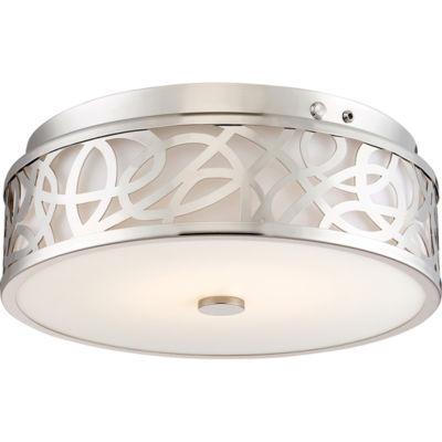 Filament Design 1-Light Brushed Nickel Led Flush Mount