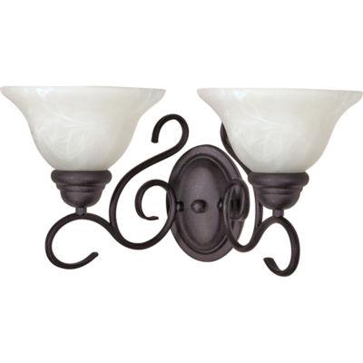 Filament Design 2-Light Textured Black Bath Vanity