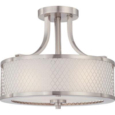 Filament Design 3-Light Brushed Nickel Semi-Flush Mount