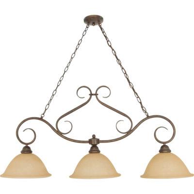 Filament Design 3-Light Sonoma Bronze Chandelier Trestle