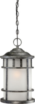 Filament Design 1-Light Aged Silver Outdoor Hanging Lantern