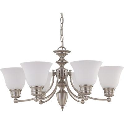 Filament Design 6-Light Brushed Nickel Chandelier