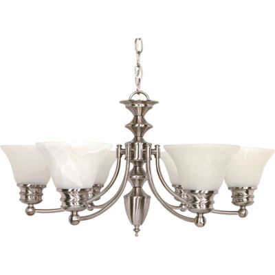 Filament Design 6-Light Brushed Nickel Chandelier