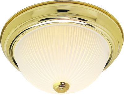Filament Design 2-Light Polished Brass Flush Mount