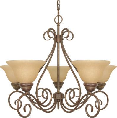 Filament Design 5-Light Sonoma Bronze Chandelier