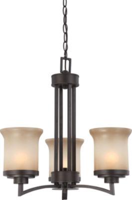 Filament Design 3-Light Dark Chocolate Bronze Chandelier