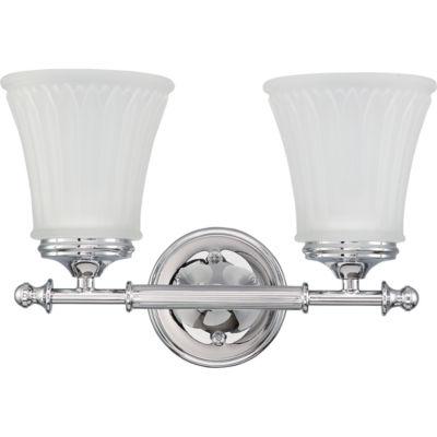 Filament Design 2-Light Polished Chrome Bath Vanity