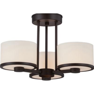 Filament Design 3-Light Venetian Bronze Semi-FlushMount