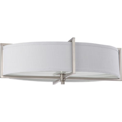 Filament Design 6-Light Brushed Nickel Flush Mount