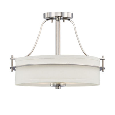 Filament Design 2-Light Polished Nickel Semi-FlushMount