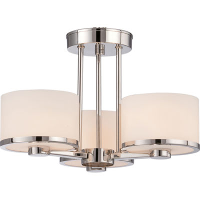 Filament Design 3-Light Polished Nickel Semi-Flush Mount