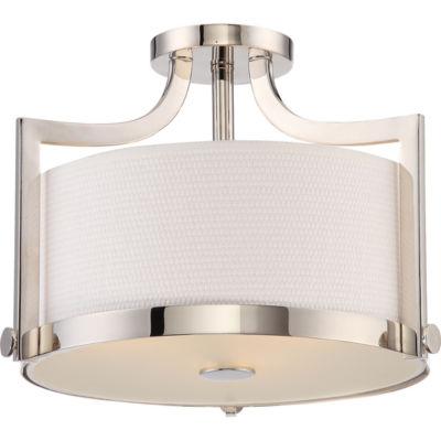Filament Design 3-Light Polished Nickel Semi-FlushMount