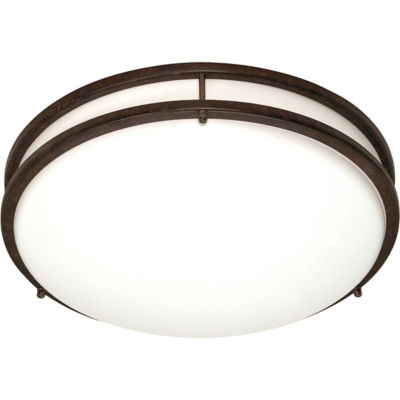Filament Design 3-Light Old Bronze Flush Mount