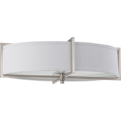 Filament Design 6-Light Brushed Nickel Flush Mount