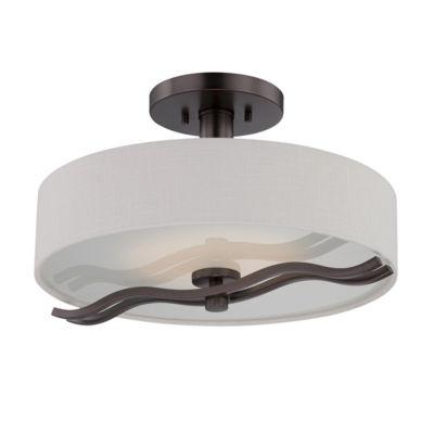 Filament Design 1-Light Hazel Bronze Semi-Flush Mount