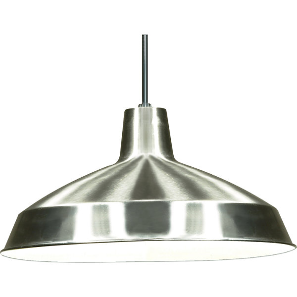 Filament Design 1-Light Brushed Nickel Pendant