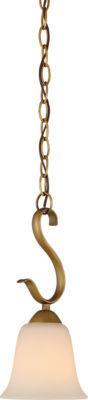 Filament Design 1-Light Natural Brass Pendant Mini-Pendant