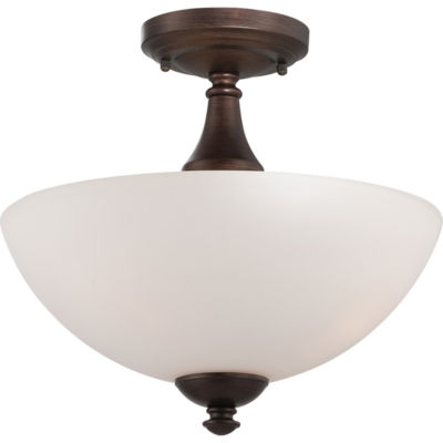Filament Design 3-Light Prairie Bronze Semi-FlushMount