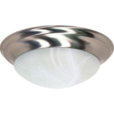 Filament Design 3-Light Brushed Nickel Flush Mount