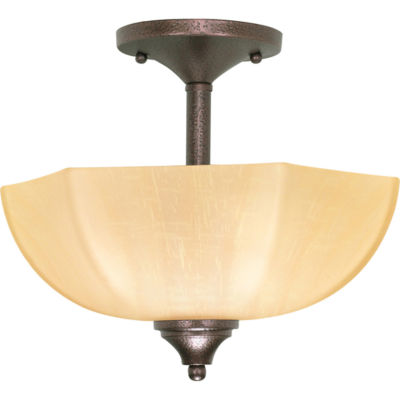 Filament Design 2-Light Copper Bronze Semi-Flush Mount