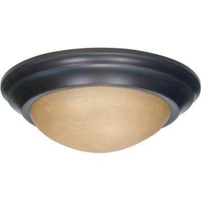 Filament Design 3-Light Mahogany Bronze Flush Mount