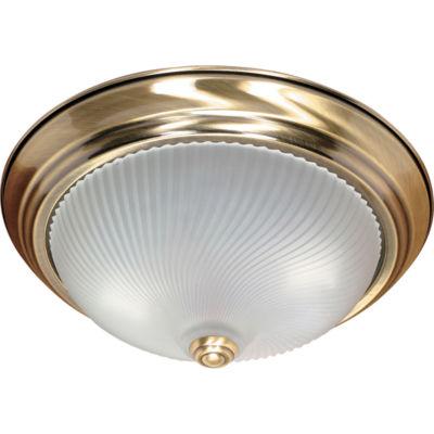 Filament Design 2-Light Antique Brass Flush Mount