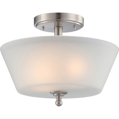Filament Design 2-Light Brushed Nickel Semi-Flush Mount
