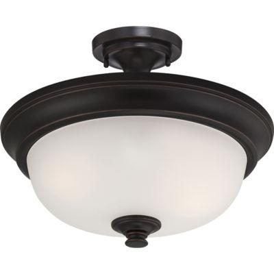 Filament Design 2-Light Sudbury Bronze Semi-FlushMount
