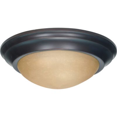 Filament Design 1-Light Mahogany Bronze Flush Mount