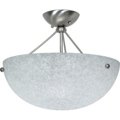 Filament Design 3-Light Brushed Nickel Semi-FlushMount